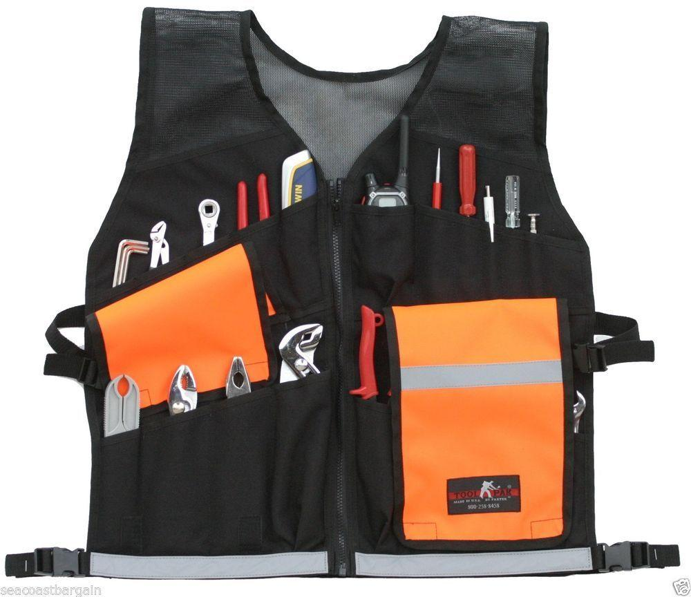 contractor vest and tools